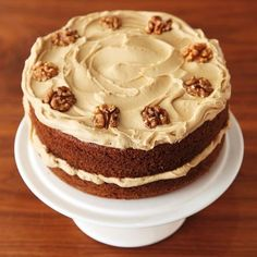 "16.9k Likes, 177 Comments - Nigella (@nigellalawson) on Instagram: ""#recipeoftheday is an old-fashioned favourite Coffee Walnut Layer Cake Photograph by Lis Parsons…"""