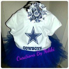 Dallas cowboys tutu set