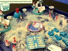 Christmas/Winter Themed Tuff Tray Resources and Ideas - Primary Treasure Chest Teaching Activities, Teaching Resources, Teaching Ideas, Key Stage 1, Tuff Tray, Sound Art, Preschool Printables, Letter Sounds, Eyfs