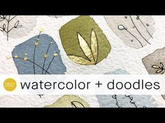 watercolor video: doodling with gold and white ** beginner level . from creationsceecee . Abstract Watercolor, Watercolor And Ink, Watercolour Painting, Watercolor Flowers, Watercolors, Watercolor Video, Watercolour Tutorials, Watercolor Techniques, Art Techniques