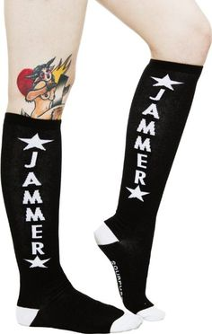 Roller derby jammer socks.