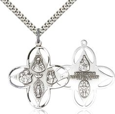 4-Way Pendant (Sterling Silver) by Bliss   Catholic Shopping .com
