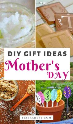 Make something special for Mom this year with these 21 clever ideas for Handmade Gifts for Mother's Day, Birthdays or Christmas. Learn to make plant markers, sugar scrubs, monogrammed coasters and more #diygiftideas