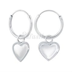 Safasilver - Wholesale Silver jewelry - Silver Hoop earring Star and Heart charms hoop earrings are latest trending earrings. Thailand's one of the best wholesaler & Manufacturer for more www.safasilver.com