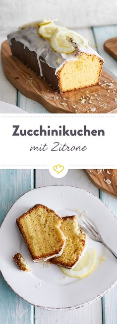 Süß, säuerlich, saftig, sommerlich - Der vegane Zitronenkuchen mit Zucchini und Olivenöl wird schnell zum neuen Star auf deiner Kaffeetafel.