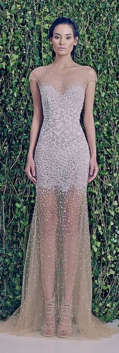 Zuhair Murad Bridal F/W - illusion wedding gown Elegant Dresses, Pretty Dresses, Formal Dresses, Wedding Dresses, Wedding Bride, Dresses 2016, Princess Wedding, Gown Wedding, Beautiful Gowns