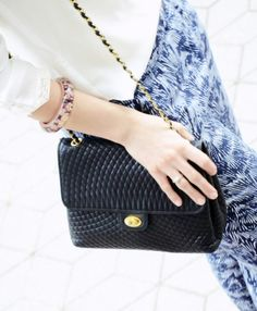 Vintage Bally flap handbag