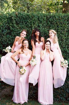 Sweet Pink Bridesmaids Dresses Donna Morgan Spring 2017 Wedding Bridesmaid