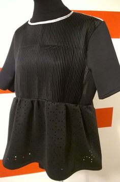 Handmade Black and withe Scuba woman maxi shirt . Short sleeves, round neckline. Made in Italy di RCClo su Etsy