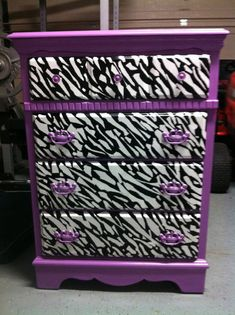 This will match Hayden's got pink zebra curtains but also match the color of her purple walls :)