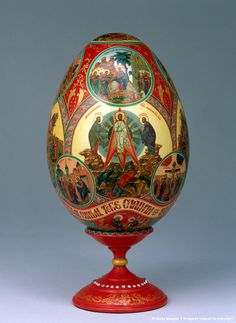 (5)FABEGRE eggs__Intricate: The egg is painted in detail  from the Kremlin Museum collection in Moscow, Russia,