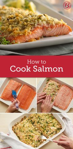 Learn how to cook salmon, how to bake salmon, how to grill salmon and more, and you'll always have salmon recipesa delicious plan to fall back on, whether you are hosting a dinner party or just making a last-minute weeknight meal. Salmon Recipes, Fish Recipes, Seafood Recipes, Great Recipes, Cooking Recipes, Healthy Recipes, Cooking Rice, Cooking Broccoli, Recipies