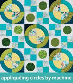 how to applique circles by machine