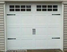 Decorative Garage Door Carriage House Hardware ( 2 Sets)
