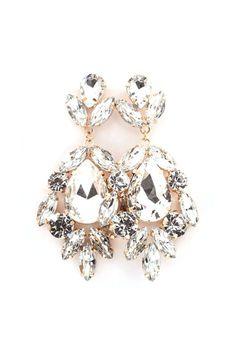 Millie Chandelier Earrings in Gold on Emma Stine Limited