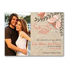 Floral Corkboard - Photo Save the Date