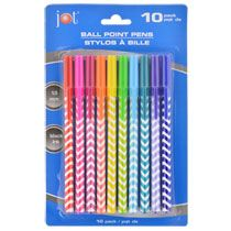 Jot Assorted Ballpoint Pens with Chevron Patterns, 10-ct. Packs