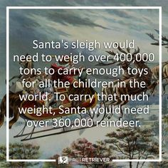 How many reindeer Santa would really need #santaclaus #christmas #weirdfacts