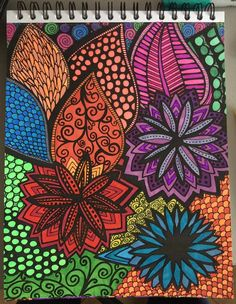 ColorIt Calming Doodles Volume 1 Colorist Lisa Lifton Lubrano Adultcoloring Coloringforadults Adultcoloringpages Doodle
