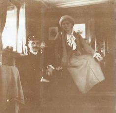 The Grand Duchess Olga Nikolaevna Romanova of Russia with an officer on board the Imperial Royal yacht,the Standart in Olga Romanov, Romanov Sisters, Grand Duchess Olga, House Of Romanov, Alexandra Feodorovna, Tsar Nicholas Ii, First Daughter, Imperial Russia, Family Album