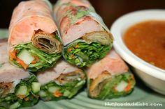 Pork Spring Rolls (Nem Nuong Cuon) by http://thefoodaddicts.com