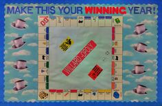Monopoly. back to school Kindergarten Bulletin Boards, Kindergarten Games, Classroom Bulletin Boards, Classroom Themes, Classroom Organization, Monopoly Classroom, Monopoly Theme, Monopoly Board, Board Game Themes