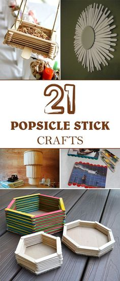 Popsicle stick crafts are so popular because they're inexpensive, fun and make cute things.