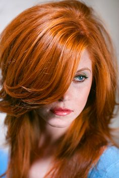 Love this cut...but not sure my hair is still thick enough to pull it off.  Love the color too!