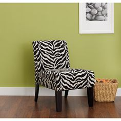 $79.00 Find the Hometrends Accent Chair in Zebra Print for an everyday low price at Walmart.com