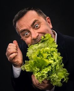 A man discovering his love for lettuce: | 50 Completely Unexplainable Stock Photos No One Will Ever Use