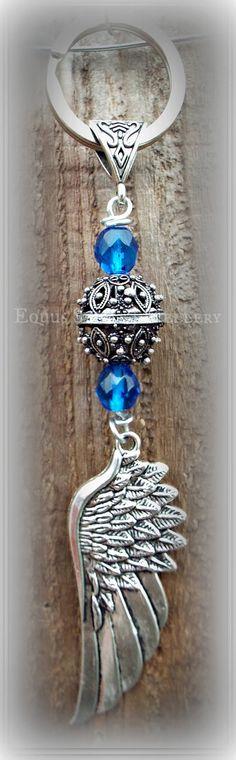 Capri blue Bali style winged tack / bag by EquusSpiritJewellery