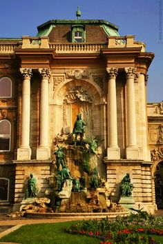 Known as the Trevi Fountain of Budapest, Matthias Fountain in the western forecourt of the Royal Palace; photo by Lennart Guillet - Budapest, Hungary Travel Around The World, Around The Worlds, Budapest Travel Guide, Neoclassical Architecture, Danube River, Cruise Destinations, Royal Palace, Central Europe, Budapest Hungary