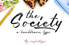 Society typeface by maghrib on @creativemarket