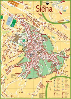 Siena tourist map