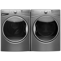 27-Inch, 5.2 cu ft Front Load Washer & 7.4 cu ft Electric Dryer