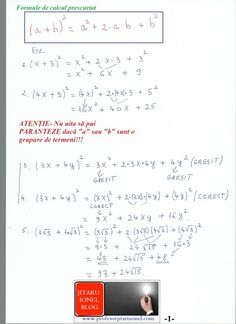 Formule de calcul prescurtat: teorie + exemple (exercitii rezolvate matematica gimnaziu) – #JitaruIonelBLOG -pregatire BAC si Evaluarea Nationala 2020 la matematica si alte materii! *materiale (lectii +formule +exercitii rezolvate matematica) gimnaziu si liceu; *edu.ro modele BAC 2020 modele Evaluare Nationala 2020; *modele simulare Evaluare Nationala BAC 2020 2019 2018 2017 2016 2015 2014 2013 2012 2011 2010 subiecte.edu.ro; Modele comper 2020; evaluare nationala clasele 2 4 6 modele 2020; *tit Algebra, T 4, Bullet Journal, Notes, Math, Blog, Calculus, Report Cards, Math Resources