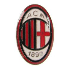 Ac Milan Pin Badge Club Crest Logo Football Supporters Gift