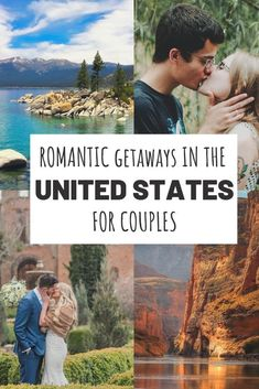 The Most Romantic Getaways in USA For Couples (With Map and Photos)Looking for romantic destinations in the United States? Check out the full list of romantic getaways in USA and get inspired! If you're looking for some of the best vacation spots i Us Travel Destinations, Best Honeymoon Destinations, Honeymoon Spots, Romantic Destinations, Romantic Vacations, Romantic Travel, Honeymoon Ideas, Best Couples Vacations, Best Place For Honeymoon