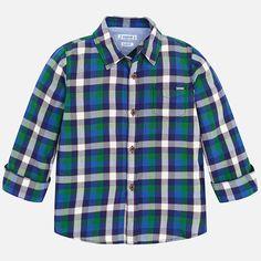 Mayoral Blue Plaid Button Down Shirt – Fox + Kit Children's Boutique