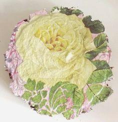 Cytrynowa+róża+-+obrazek+na+brzozie++w+ACOYA+JEWELLERY+na+DaWanda.com