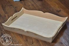 A Tray for the Tufted Ottoman - Diy Pallet Furniture, Diy Furniture Projects, Woodworking Projects Diy, Woodworking Furniture, Diy Wood Projects, Serving Tray Wood, Wood Tray, Wood Boxes, Wooden Art