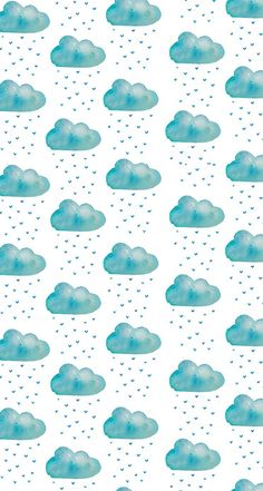 Image about blue in Mein Stil by Salina Schröter Graphic Wallpaper, Iphone Background Wallpaper, Paper Background, Iphone Backgrounds, Rain Wallpapers, Cute Wallpapers, Iphone Wallpapers, Clouds Pattern, Pattern Wallpaper