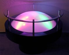 Lighted Cocktail Table and End Table