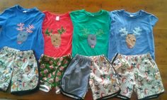 Xmas Jammies I made for the kids