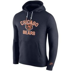 Mens Chicago Bears '47 Brand Navy Blue Cross Check Crew Sweatshirt