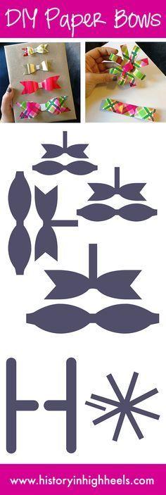 Billiges Vatertagsgeschenk comment faire un noeud en papier Paper Cards, Diy Paper, Paper Crafting, Paper Bows, Cards Diy, Diy Bow, Diy Hair Bows, Bow Template, Templates
