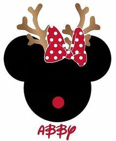 Mickey Mouse Shirts, Mickey Shirt, Minnie Mouse Stickers, Mickey Mouse Art, Mickey E Minie, Disney Mickey, Christmas Clipart, Christmas Crafts, Minnie Mouse Christmas