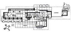 Zimmerman House. / 223 Heather Street, Manchester, NH / 1950 / Usonian / Frank Lloyd Wright