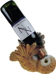 omg I want thisssss Amazon.com: Owl Guzzler Wine Bottle Holder: Kitchen & Dining