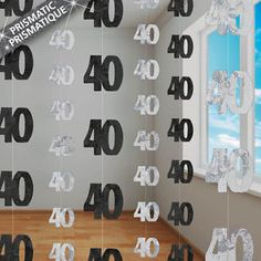 40th birthday party ideas for men | 13th-100th Birthday 5ft String Party Decorations Supplies  sc 1 st  Pinterest & Floral u0026 Stripes Garden Birthday Party | Pinterest | 40th birthday ...